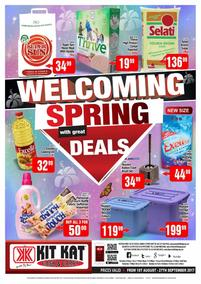 Kit Kat Cash Carry : Welcoming Spring Deals (01 Aug - 27 Sep 2017), page 1