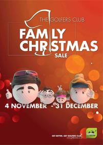 The Golfers Club : Family Christmas Sale (04 Nov - 31 Dec 2017), page 1