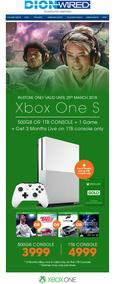 Dion Wired : Xbox One S (Only Valid Til 25 Mar 2018), page 1
